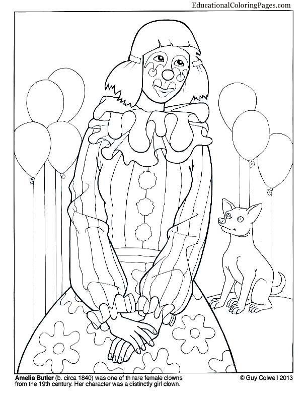 Free Printable Coloring Pages Clowns Book