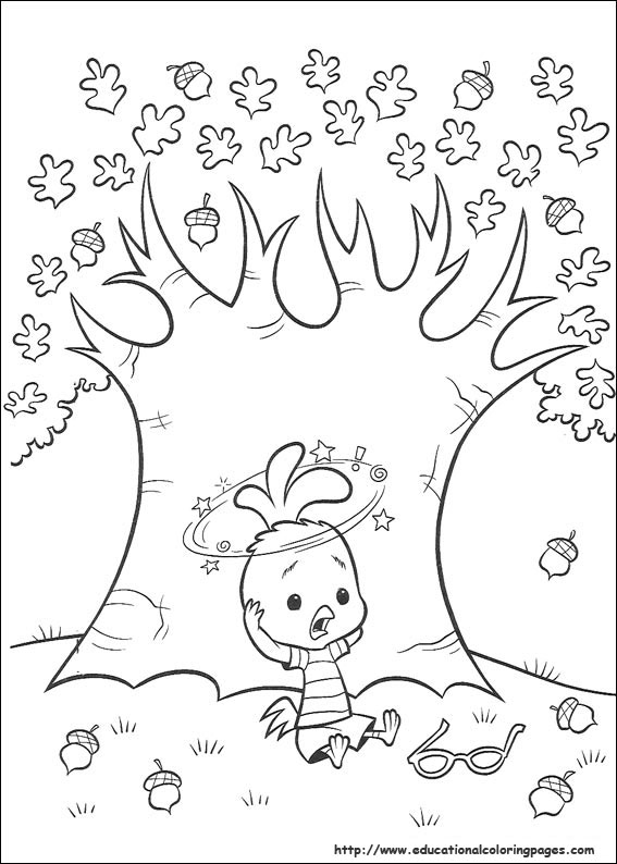 Chicken little Coloring Pages Educational Fun Kids Coloring