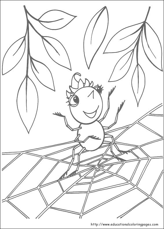 Miss Spider Coloring Pages Educational