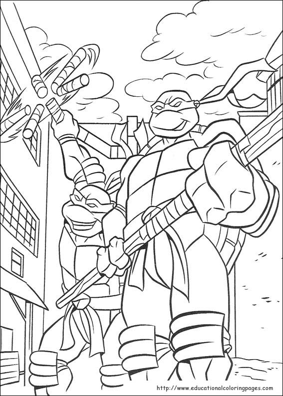 Ninja Turtles Coloring Pages free