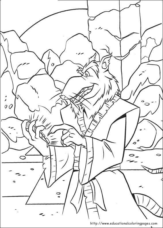 tiger ninja turtles coloring pages - photo#2