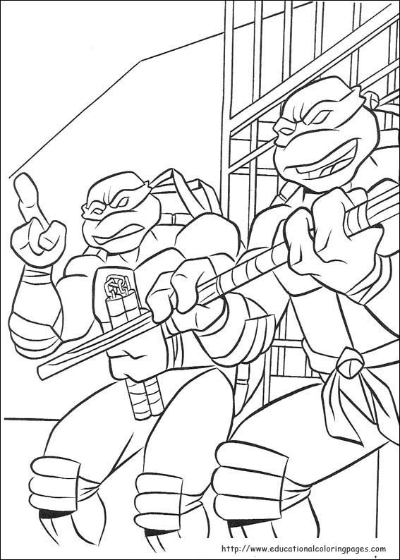 Ninja Turtles Coloring Pages Free For Kids