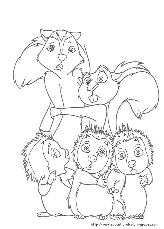 Over The Hedge Coloring Educational Fun Kids Coloring