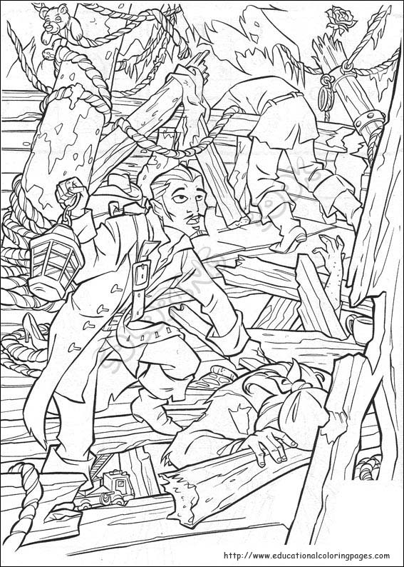 coloring pages pirates of caribbean - photo#11