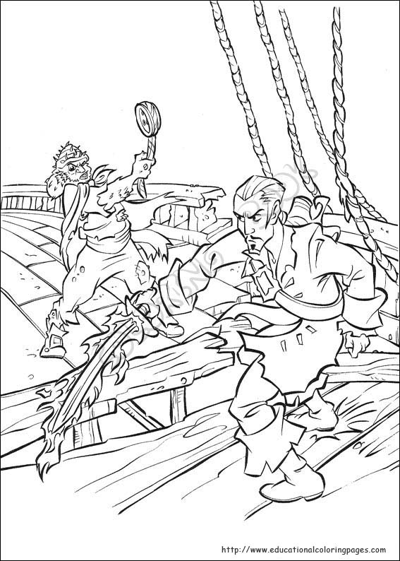 Pirates of the Caribbean Educational Fun Kids Coloring