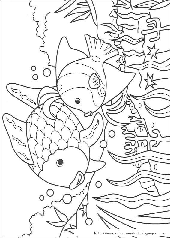print - Rainbow Fish Coloring Pages