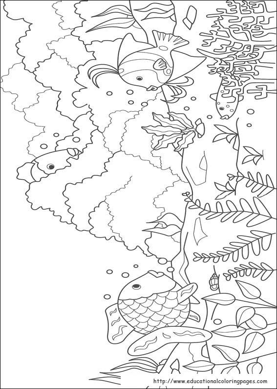 bookmark - Rainbow Fish Coloring Pages Print