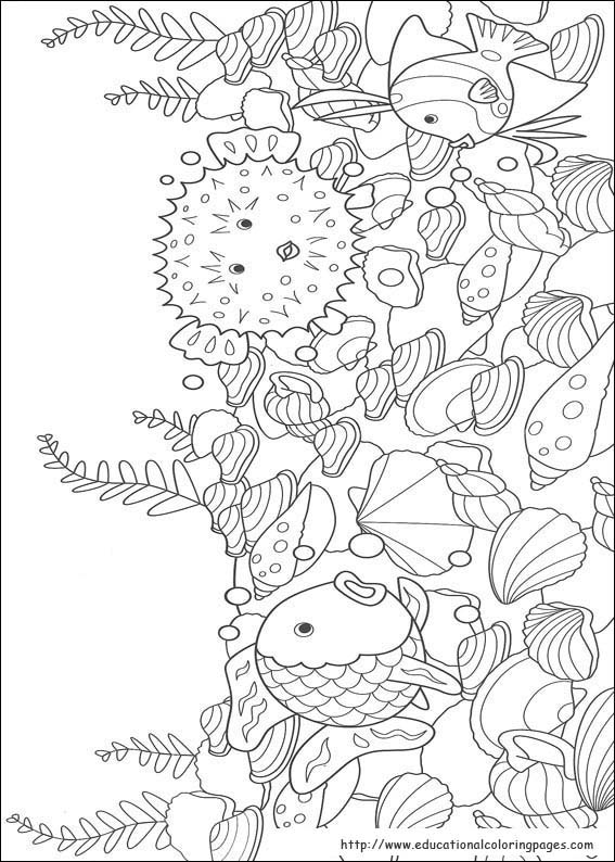 Rainbow Fish Coloring Pages free