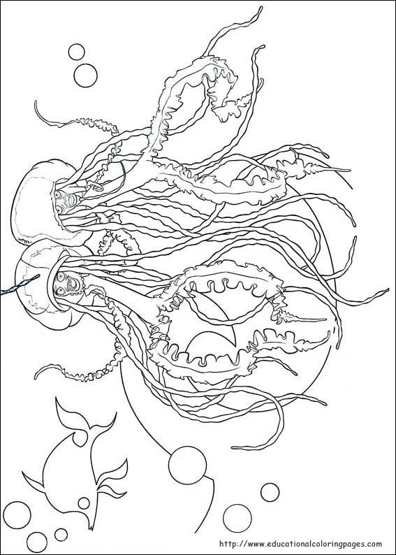 Shark Tale Coloring Educational Fun Kids Coloring Pages