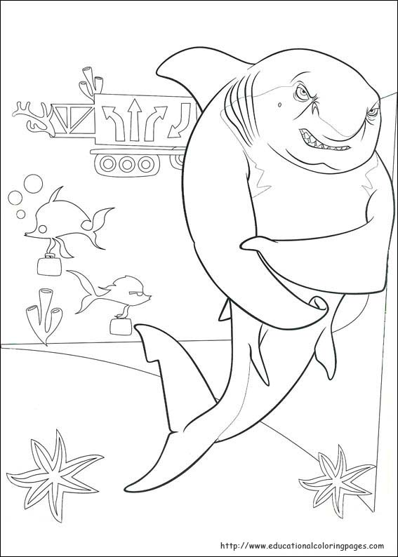 shark tale coloring book pages - photo#9