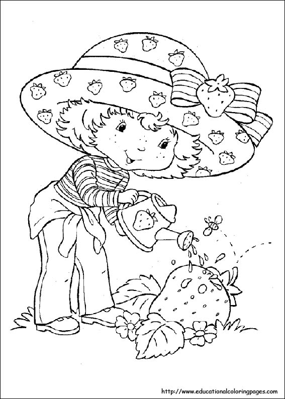 Strawberry Shortcake Coloring Pages Free For Kids