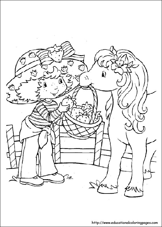 strawberry shortcake coloring pages free for kids - Strawberry Shortcake Coloring Pages
