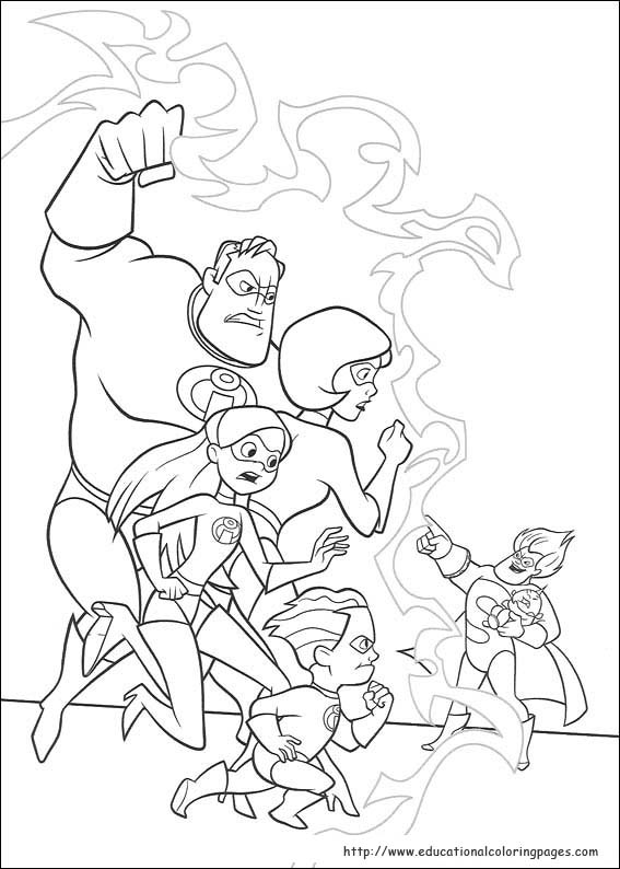 The incredibles coloring pages educational fun kids for The incredibles coloring pages