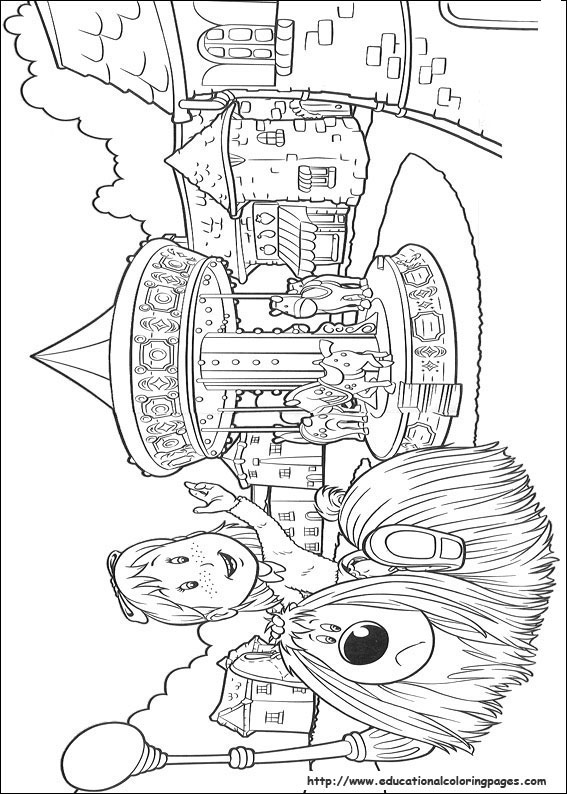 The Magic Roundabout Coloring Pages