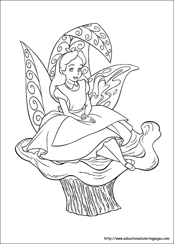 Coloring Pages Disney Alice In Wonderland - Coloring Home | 794x567