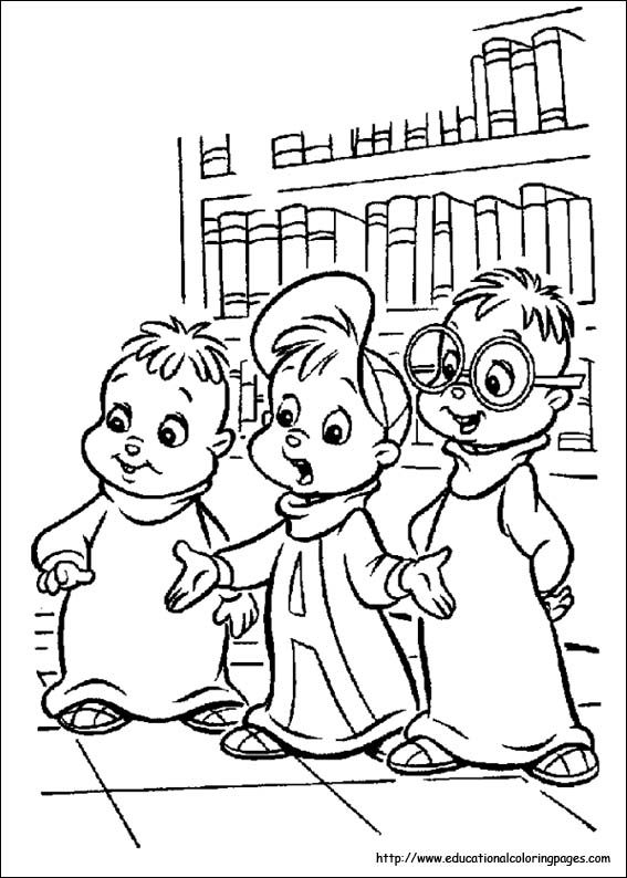 Chipmunks Coloring Pages Educational