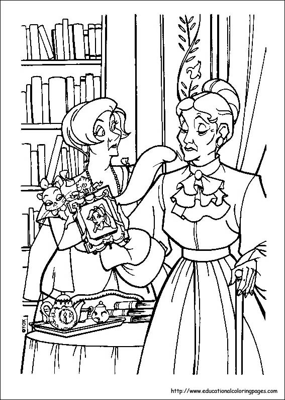 anastasia coloring book pages - photo#25