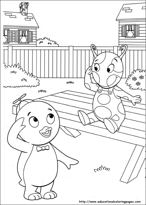 Backyardigans Coloring Pages Educational Fun Kids Coloring Pages