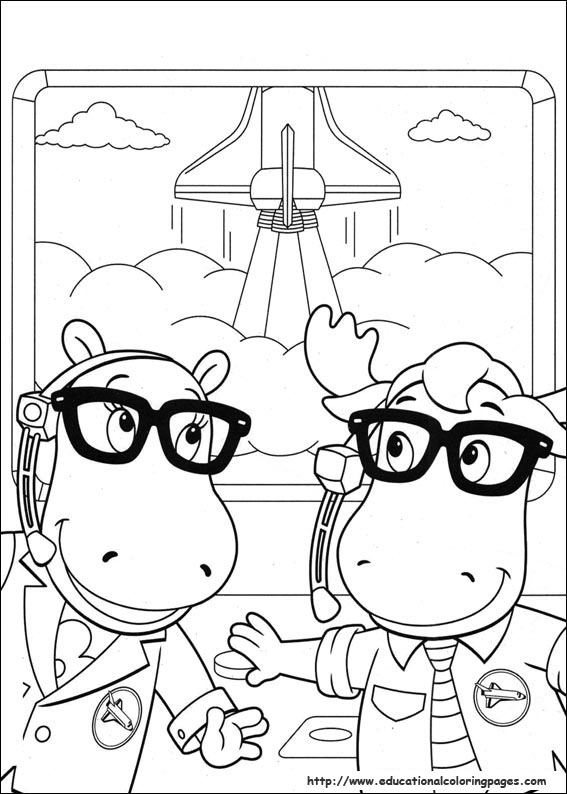 Coloring page Backyardigans Backyardigans | Halloween coloring ... | 794x567