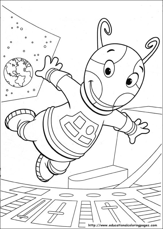 kids jumbo workbooks - Backyardigans Coloring Pages Print