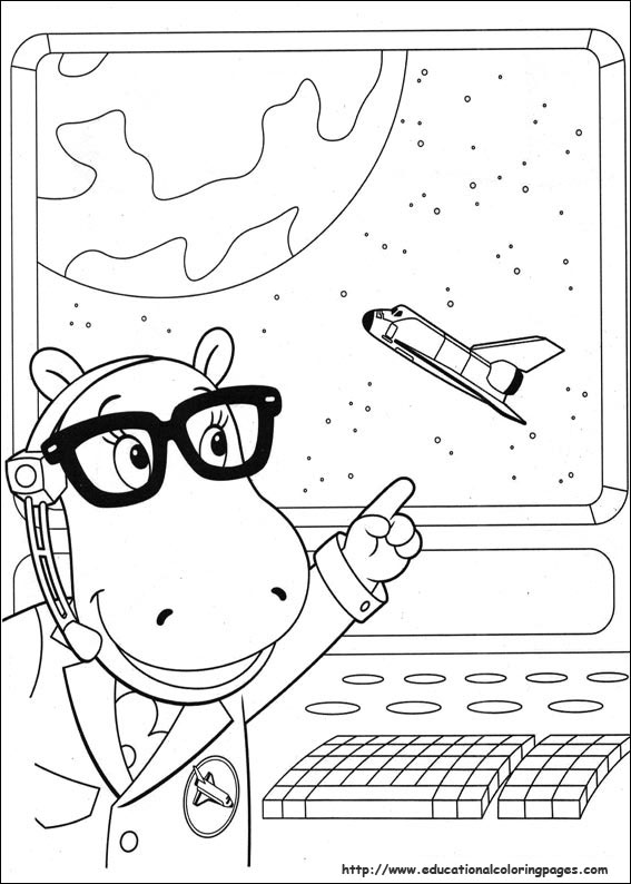 Backyardigans Coloring Pages Educational Fun Kids