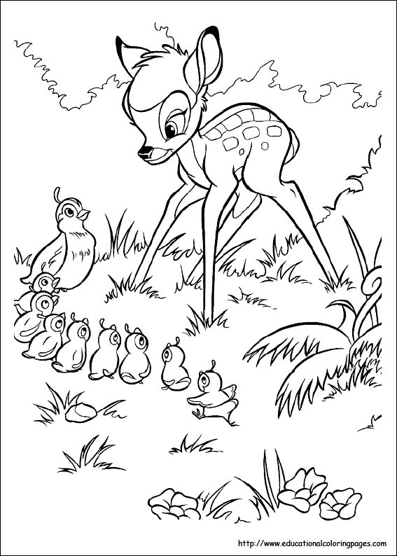 Educational Coloring Pages Com Disney Html : Bambi coloring pages educational fun kids