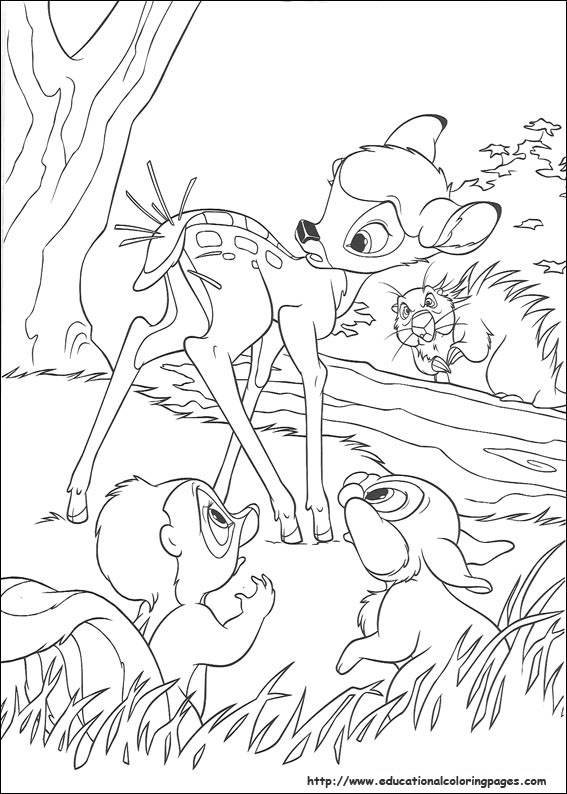 Bambi 2 Coloring Pages Educational