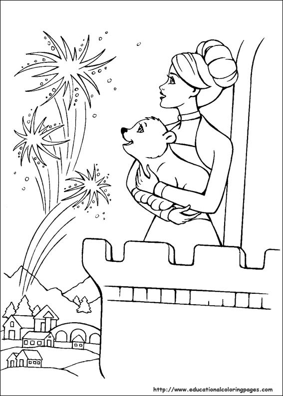 Barbie Magic Pegasus Coloring Pages Educational Fun Kids