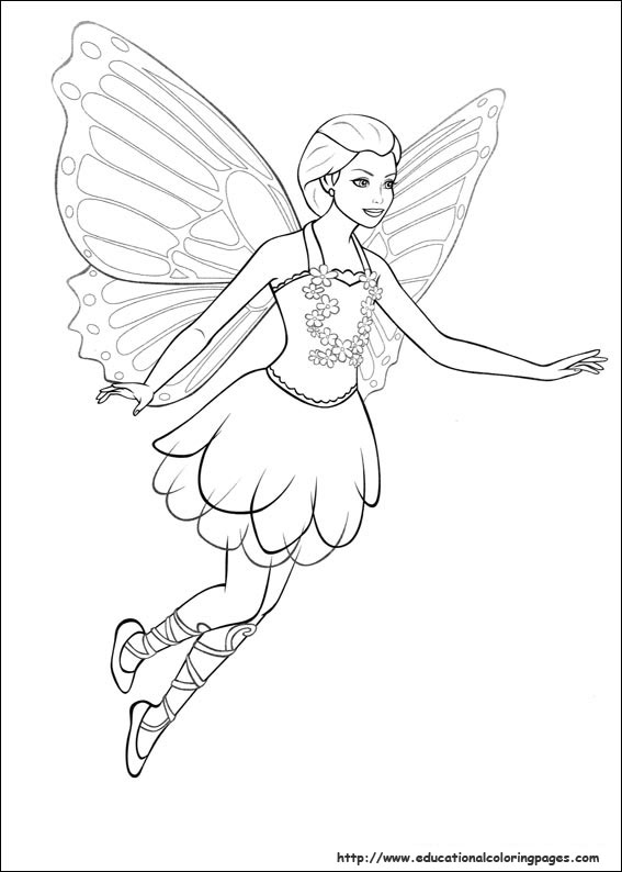 Barbie Mariposa Coloring Pages Babie Mariosa Image Colouring