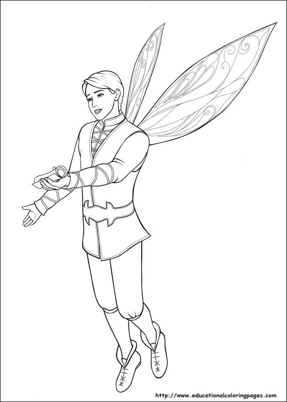 barbie butterfly coloring pages - photo#6