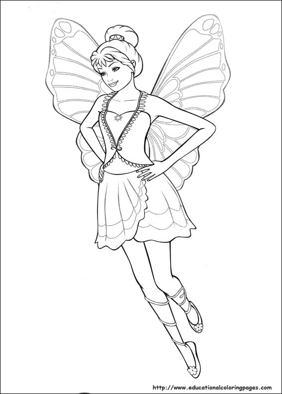 Barbie Mariposa And The Fairy Princess Coloring Pages  Coloring