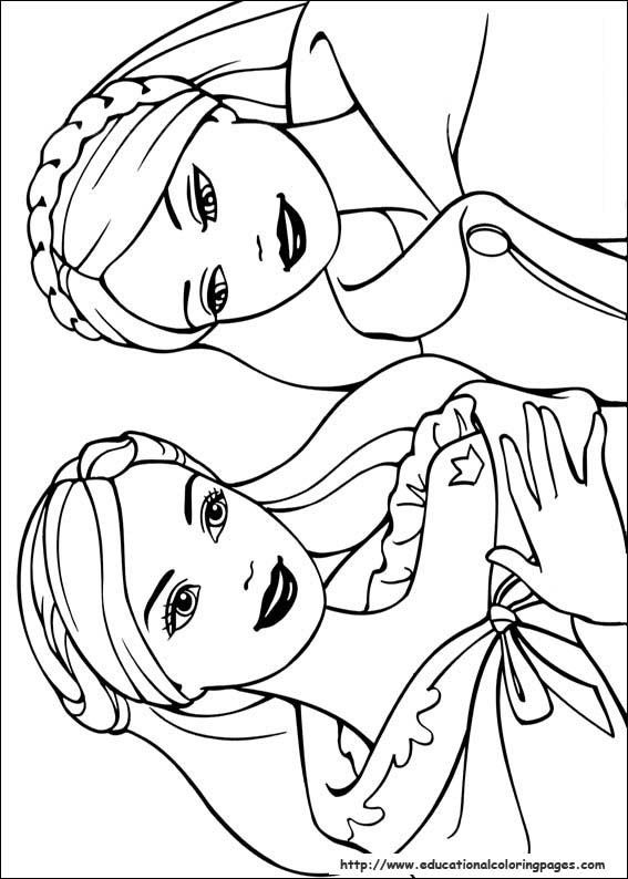 coloring pages princess barbie - photo#13