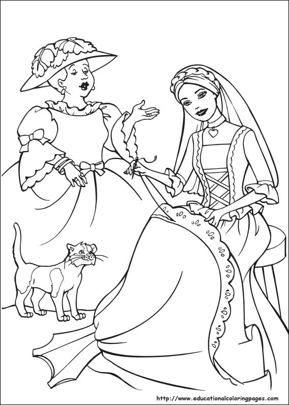 princess pauper coloring pages - photo#26