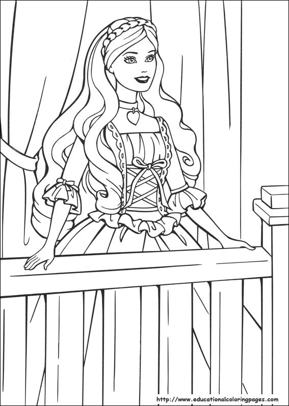 coloring pages princess barbie - photo#34