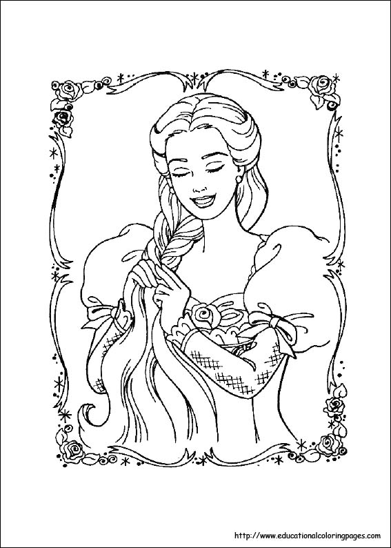 Top 50 Free Printable Barbie Coloring Pages Online | 794x567