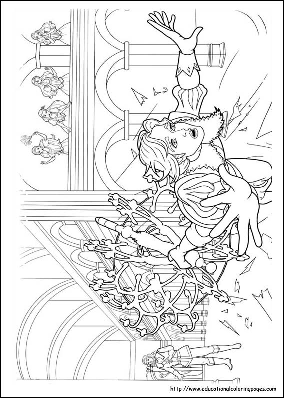 Barbie and 3 Musketeers Coloring Pages Educational Fun