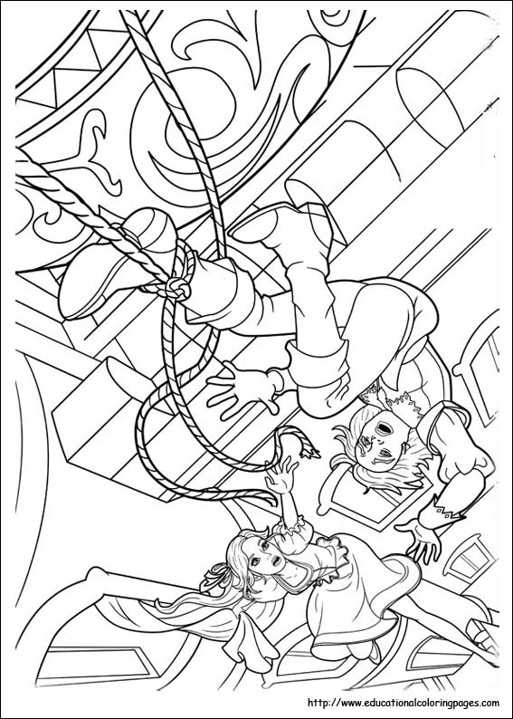 barbie and 3 musketeers coloring pages