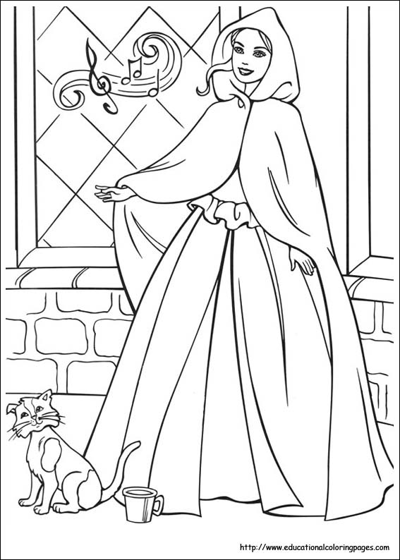 princess pauper coloring pages - photo#7