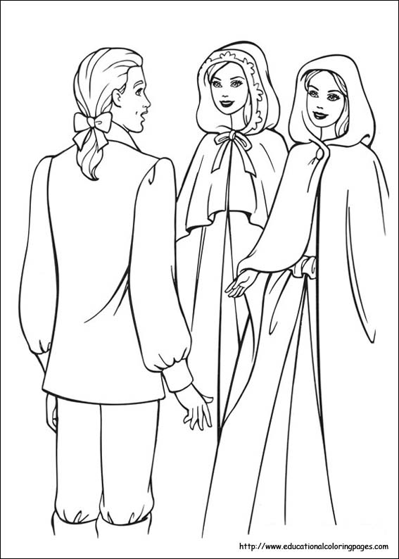 princess pauper coloring pages - photo#12