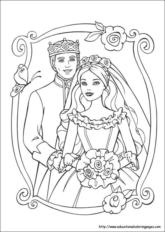 Barbie Princess And Pauper Coloring Pages Educational