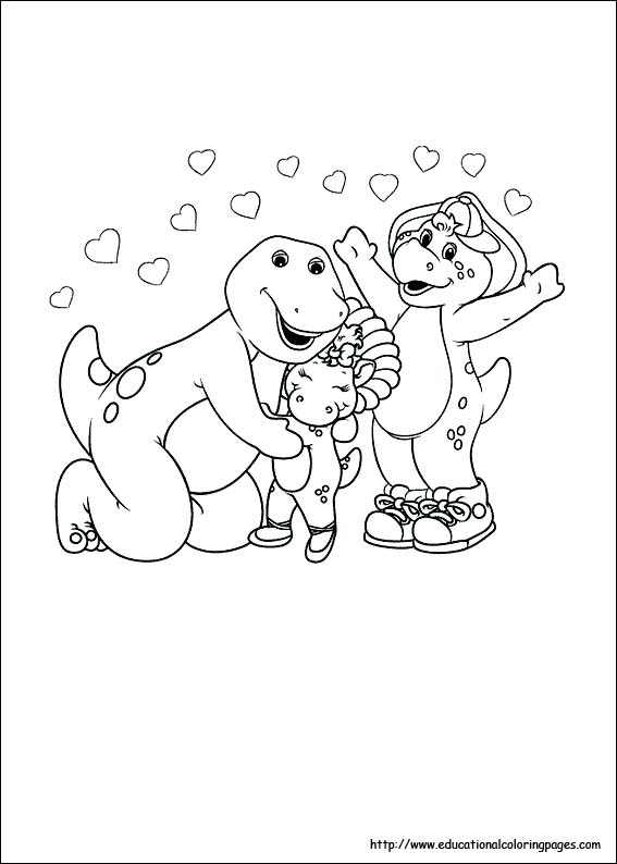 Barney Coloring Pages - Educational Fun Kids Coloring Pages and ...
