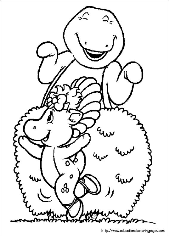 Barney Coloring Pages Educational
