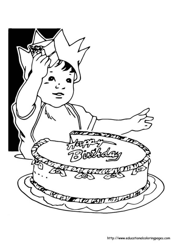 Birthday Coloring Educational Fun Kids Coloring Pages