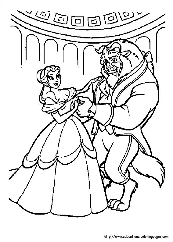 Coloring Pages Beauty And The Beast : Beauty and beast coloring pages free for kids