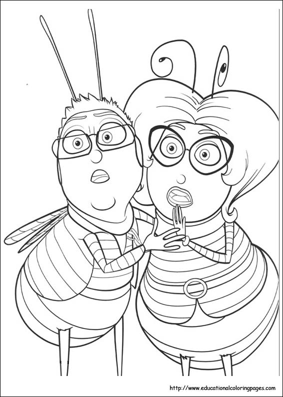 Bee Movie Coloring Pages Educational
