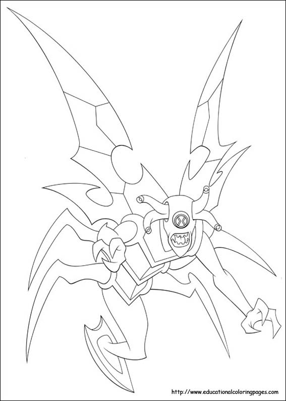 Ben 10 Coloring Pages free For
