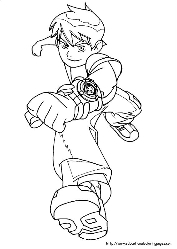 Ben 10 Coloring Pages Free For Kids Benten Coloring Pages