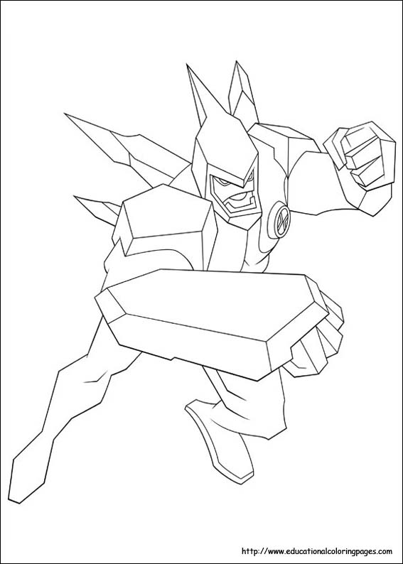 Ben 10 Coloring Pages Free For Kids