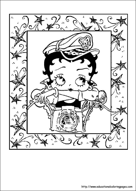 Betty Boop Halloween Coloring Pages Bookmark a to z Coloring