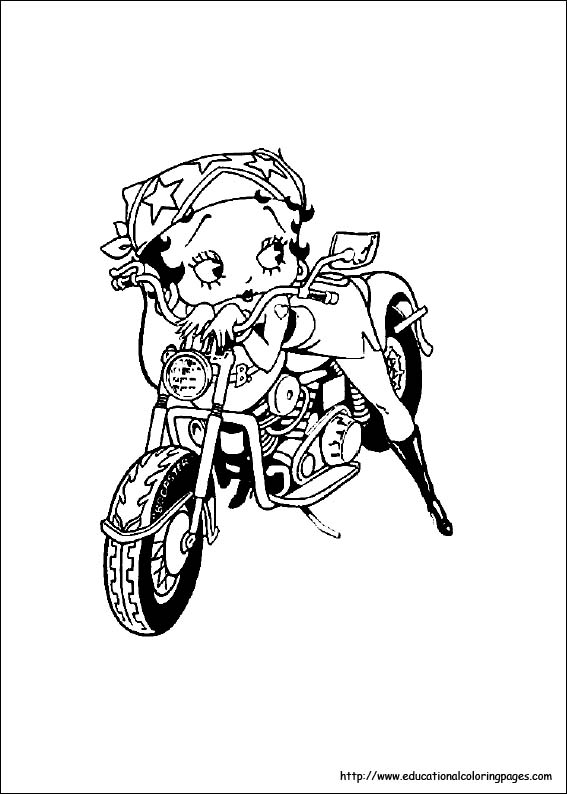 Betty Boop Coloring Pages Free For Kids
